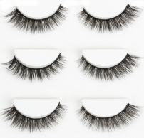 Wehous 3 Pairs Luxurious Real 3D Natural Cross Thick False Eyelashes Eye Lashes Makeup