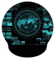 Meffort Inc Mouse Pad with Wrist Rest Support & Non-Slip Base, Durable Ergonomic Gaming Mousepad - Radar Design