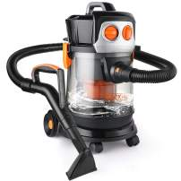 TACKLIFE Wet Dry Vac, 4Peak hp Shop Vacuum, 17.5Kpa Powerful Suction, Quiet Cleaner (70dB), 3 in 1 Wet/Dry Suction and Blowing, 3-Layer Filtration, PVC02D