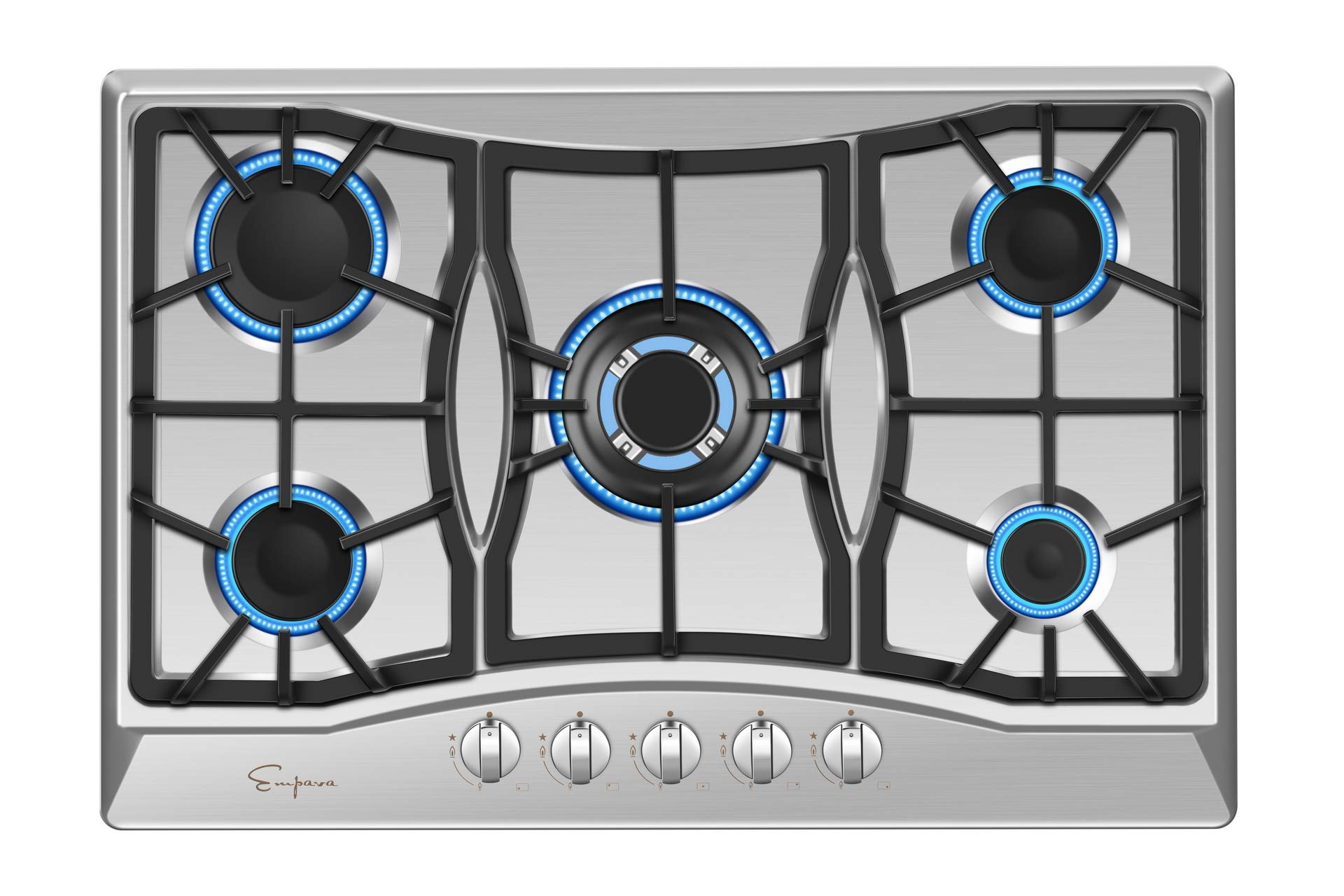 """Empava 30"""" Gas Cooktop in Stainless Steel with 5 Burners 30XGC21"""
