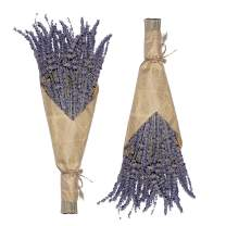 Cedar Space Lavender Dried Flowers 2 Bunches Dried Lavender Ideal Home Fragrance Products for Home Decorations, Wedding, Party, Photography & Flower Arrangements, Total Length 16 Inches