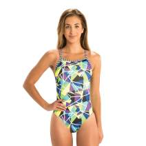 Dolfin Uglies Women's V-2 Back One Piece Swimsuit (26, Rock Candy)