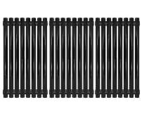 Hongso Porcelain Steel Channel Cooking Grid Replacement for Gas Grill Model Charbroil 463440109 Parts, 463440109B, 463420508, 463420509, Kenmore 463420507, Master Chef 199-4759-0, Set of 3, PCZ193