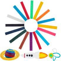 BBTO About 640 Pieces Sticky Wax Yarn Stix Monkey String Bendable for Children DIY School Project, 13 Colors (6 Inch)