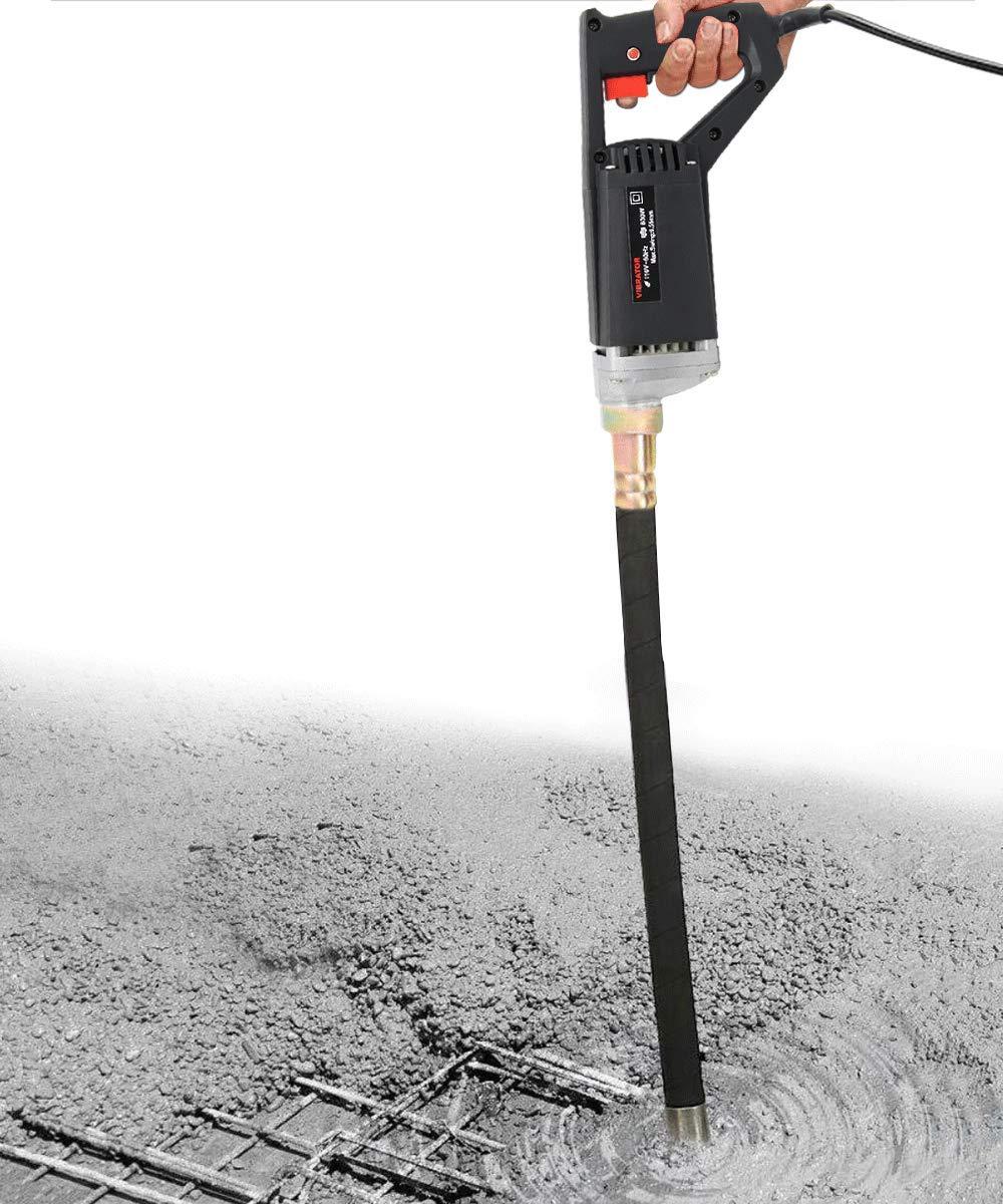 YJINGRUI Hand Held Concrete Vibrator Electric Concrete Vibrating Shaft Rod 3000 Vibrations Per Minute 110V 800W