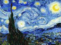 """Paint by Numbers for Adults by BANLANA, DIY Adult Paint by Number Kits for Beginners on Canvas Rolled 16"""" by 20"""" (Van Gogh The Starry Night)"""