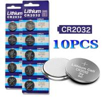 DoDoLightness Battery Lithium CR2032 Button Cell Batteries 3V 10PCS