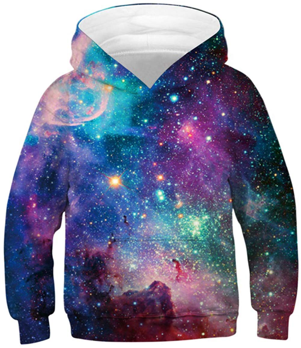 TUONROAD 3D Printed Kids Hoodies Lightweight Cool Hooded Pullover Sweatshirt for 6-16T Boys Girls
