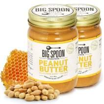 Big Spoon Roasters Peanut Butter w/ Wildflower Honey & Sea Salt - Keto - Raw Honey Peanut Butter - Creamy Peanut Butter w/ Organic Honey & Coconut Oil - Palm Free, Natural Peanut Butter - 26 Ounces