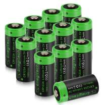 Enegitech CR123A Lithium Battery 3V VMS3230 Batteries 1600mAh with PTC Protection for Polaroid Photo Camera Flashlight Torch Microphones -12 Pack(Don't Recharge Them)