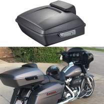 Moto Onfire Advanblack Charcoal Denim Chopped Tour Pack Tour Pak Backrest Pad Fit for Harley Touring Street Glide Road Glide Road King Electra Glide 2014 2015 2016 2017 2018 2019 2020