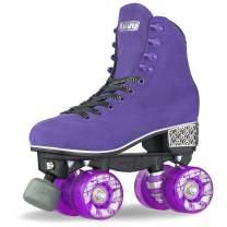 Crazy Skates Evoke Roller Skates for Women - Stylish Suede Quad Skates