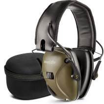 awesafe Electronic Shooting Earmuff, Noise Reduction Sound Amplification Electronic Safety Ear Muffs with Storage Case