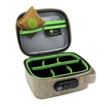 STASHLOGIX Silverton - Locking Stash Bag with Odor Control (Medium, Tan)