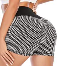 Scrunch Butt Shorts for Women High Waisted Yoga Shorts Ruched Butt Lifting Booty Shorts Gym Workout Hot Pants