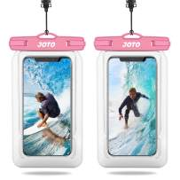 """【2 Pack】JOTO Floating Waterproof Phone Pouch, Universal Waterproof Case Underwater Dry Bag for iPhone 12 Pro Max/11 Pro Max/XS Max/XR/ 8 7 Plus Galaxy up to 6.9"""" for Pool Beach Swim Kayak Travel -Pink"""