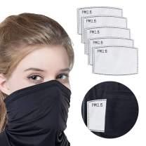 UV Face Scarf, Bandanas Neck Gaiter Balaclava Built in Pocket and Filters
