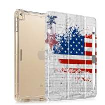 iPad 10.2 Case 2019 with Pencil Holder Folio Stand Case for iPad 7th Generation, Protective Shockproof Case with Auto Sleep/Wake for iPad 10.2 inch, Flag