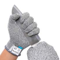 CHIOFIM Cut Resistant Gloves Food Grade High performance Level 5 Protection Safety Kitchen Cuts Gloves for Oyster Shucking, Fish Fillet Processing, Mandolin Slicing, Meat Cutting and Wood Carving