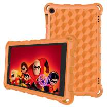 7 inch Tablet Case-Auorld Kids-Proof Protective Case Cover for 7 inch Tablet (Compatible with 2015&2017&2019 Release)-Orange