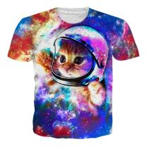 RAISEVERN Unisex Summer T-Shirts Crewneck Cool Short Sleeve Funny Graphic Print Top Casual Tees
