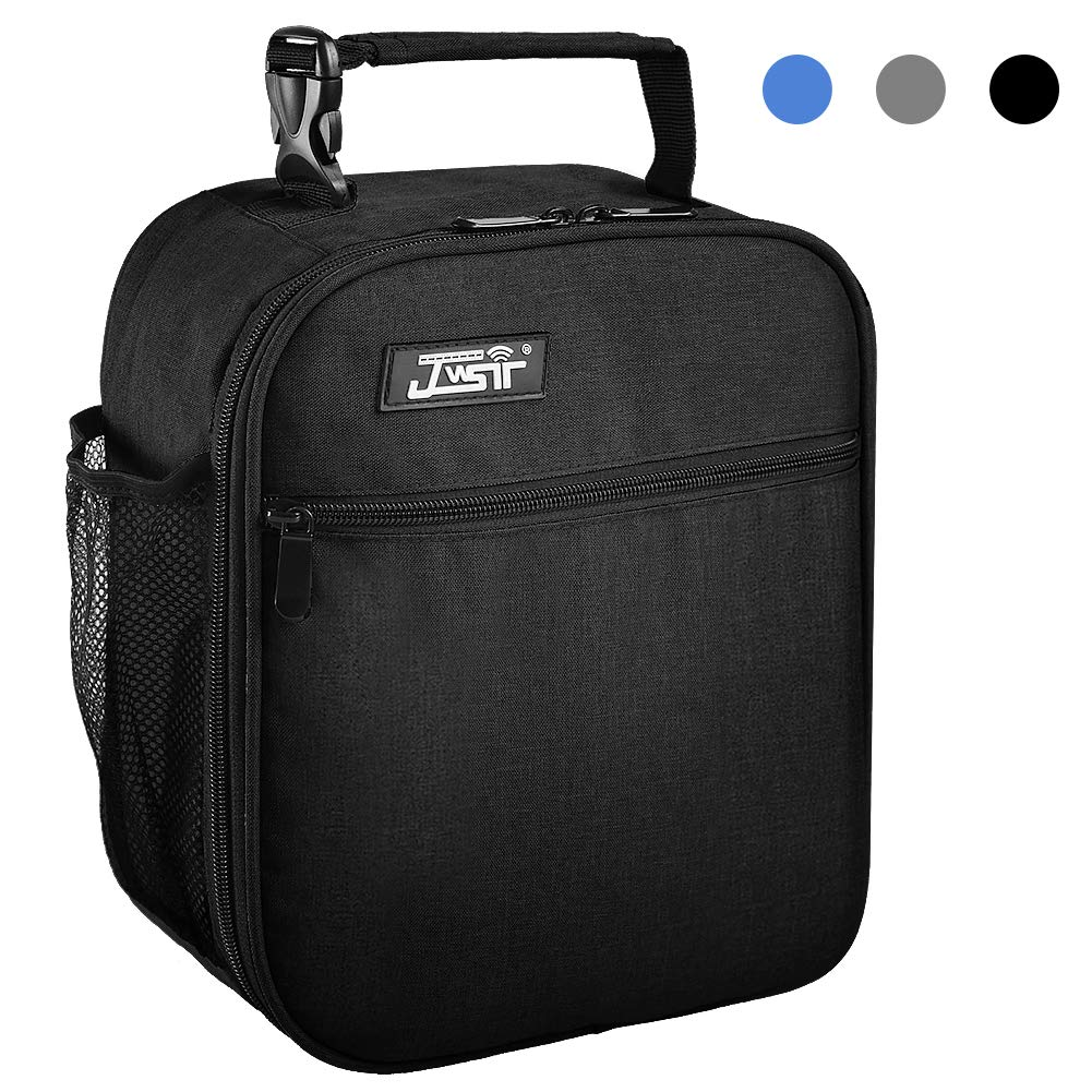 Lunch Bag Insulated Lunch Bag for Men Women Kids,Resuable Cooler Lunch Box Lunch Water - Resistant Leakproof Tote Bag for Office, School, Work, Picnic Hiking Beach (Black-1)