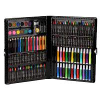 168 Pcs Art Supplies Set Deluxe Art Creativity Painting Drawing Set Colored Pencil Kit for Artists Drawing Watercolor Pencils Art Supply for Boys Girls Adults Children Black Case