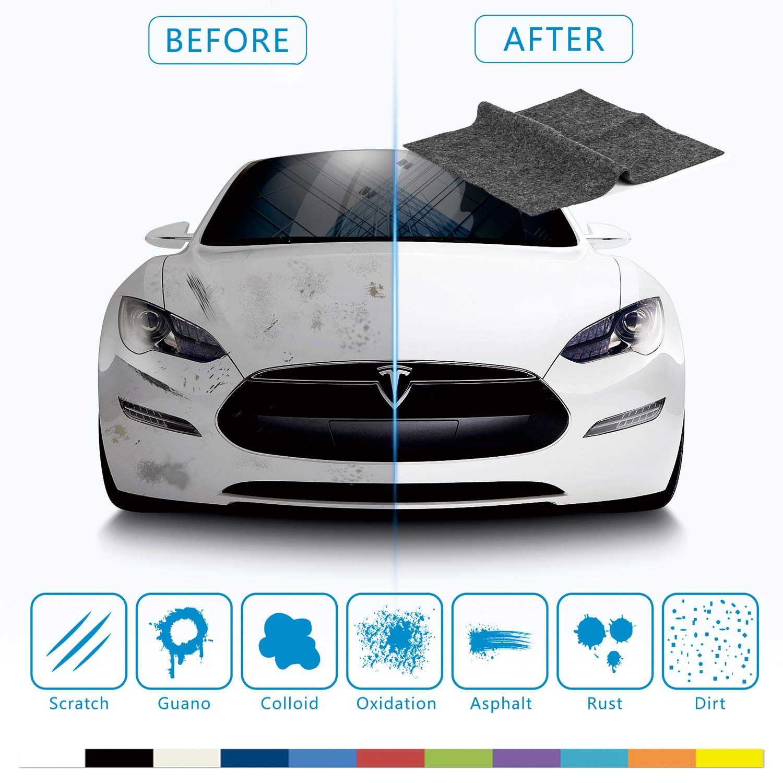 XQXA Nano-tech Scratch Remover, Car Smart Scratch Towel,Repair Paint Oxidation Fix Car Scratch Scuffs Remover Cloth for Cleaning Car Surface Scratch (1 Pack)