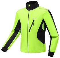 Wantdo Mens Waterproof Fleece Jacket Running Jacket Windproof Thicken Warm Coat