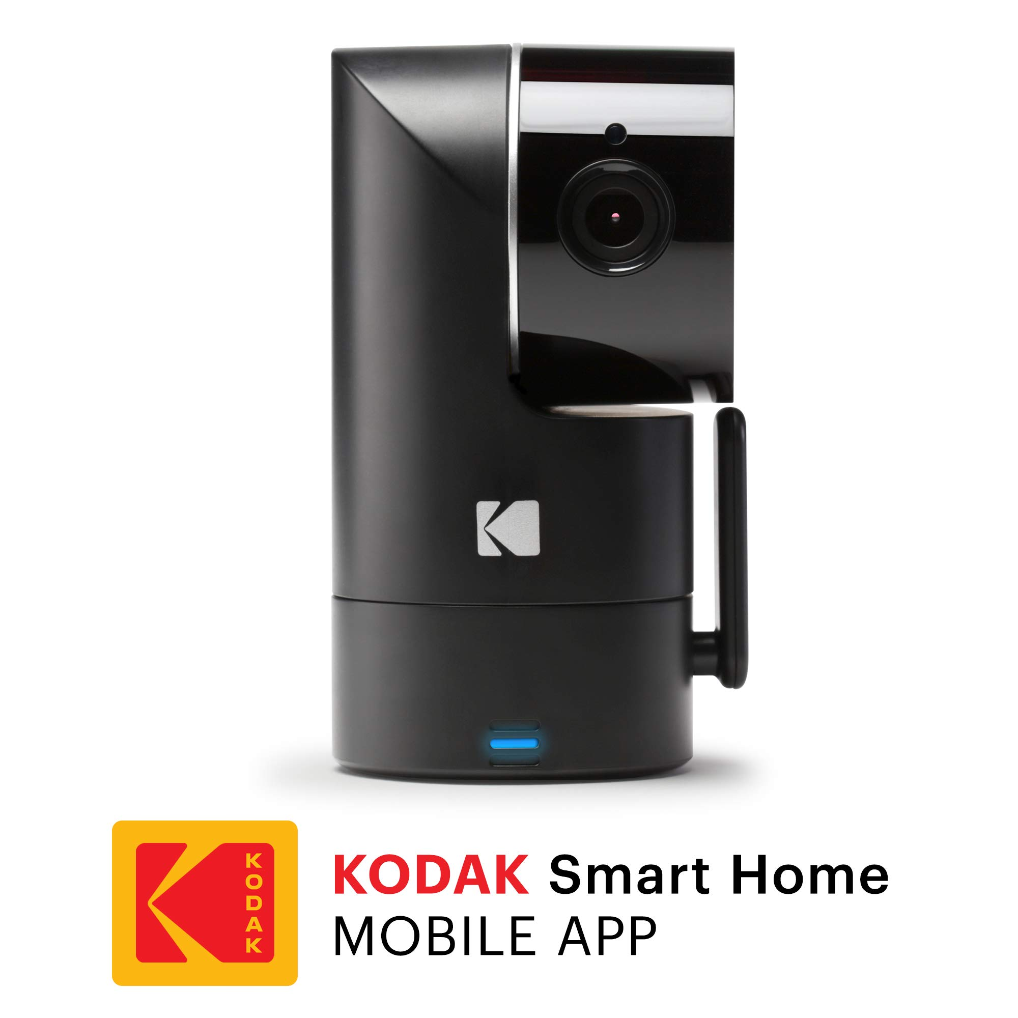 KODAK Cherish F685 Home Security Camera - Tilt/Pan/Zoom 1080p Camera, Night Vision, 120-degree View, Rechargeable Batteries and WiFi Mobile App