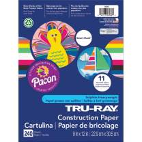 "Tru-Ray P6586 Construction Paper Smart-Stack, 9"" x 12"", 11 Assorted Colors, 240 Sheets"