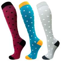 1/3 Pairs Compression Socks For Women&Men(20-30mmHg) - Best for Running,Travel,Cycling,Pregnant