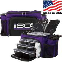 Isobag Meal Prep System - 6 Meal (Purple/Black Accent, 6 Meal Isobag)