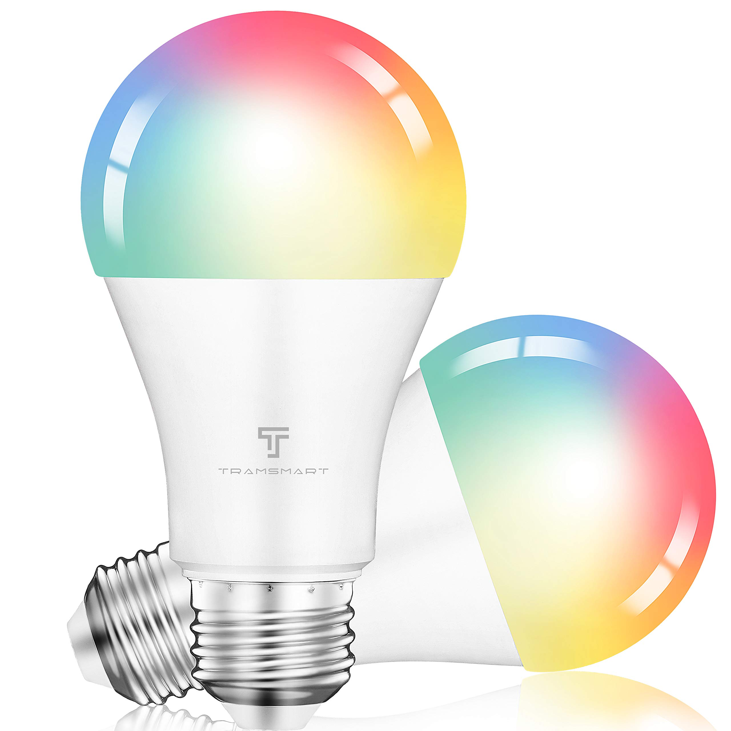 Smart WiFi Led Light Bulbs Compatible for Alexa and Google Home ,Music Sync RGBCCT Color Changing Multicolor Smart LED Bulb, Dimmable Remote with APP for Party ,Home, Decor, Bedroom, Stage ,2 Pack