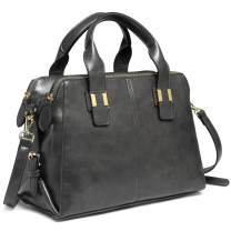 Satchel Bag for Women, VASCHY Faux Patent Leather Top Handle Handbag Work Tote Purse with Triple Compartments