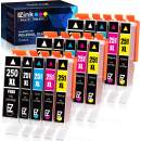 E-Z Ink (TM) Compatible Ink Cartridge Replacement for Canon PGI-250XL PGI 250 XL CLI-251XL CLI 251 XL (15 Pack) to use with PIXMA MX922 MG7520 MG5520 MG5420 MG7120 MG6320
