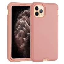 """Phone Case for iPhone 11 Pro Max Co-Goldguard Heavy Duty Armor 3 in 1 Built-in Screen Protector Rugged Cover Dust-Proof Shockproof Drop-Proof Scratch-Resistant Shell for iPhone 11 Pro Max 6.5"""",Pink"""