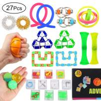 Twister.CK Sensory Toys Set, 27 Pack Fidget Toys,Filled Easter Eggs, Stress Relief Hand Toys for Kids and Adults, Easter Theme Party Favor, Easter Eggs Hunt, Basket Stuffers Fillers, Carnival Games, Pinata Goodie Bag Fillers