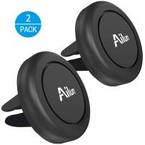 Ailun Car Phone Mount Magnet Key Holder Air Vent Magnetic Holder 2Pack for iPhone 11/11 Pro/11 Pro Max/X Xs XR Xs Max 8 7 Galaxy s20, s20+ S20Ultra S10 and Other Smartphones Tablets Black