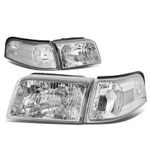 DNA Motoring HL-OH-066-CH-CL1 Chrome Housing Headlights Replacement For 06-11 Grand Marquis