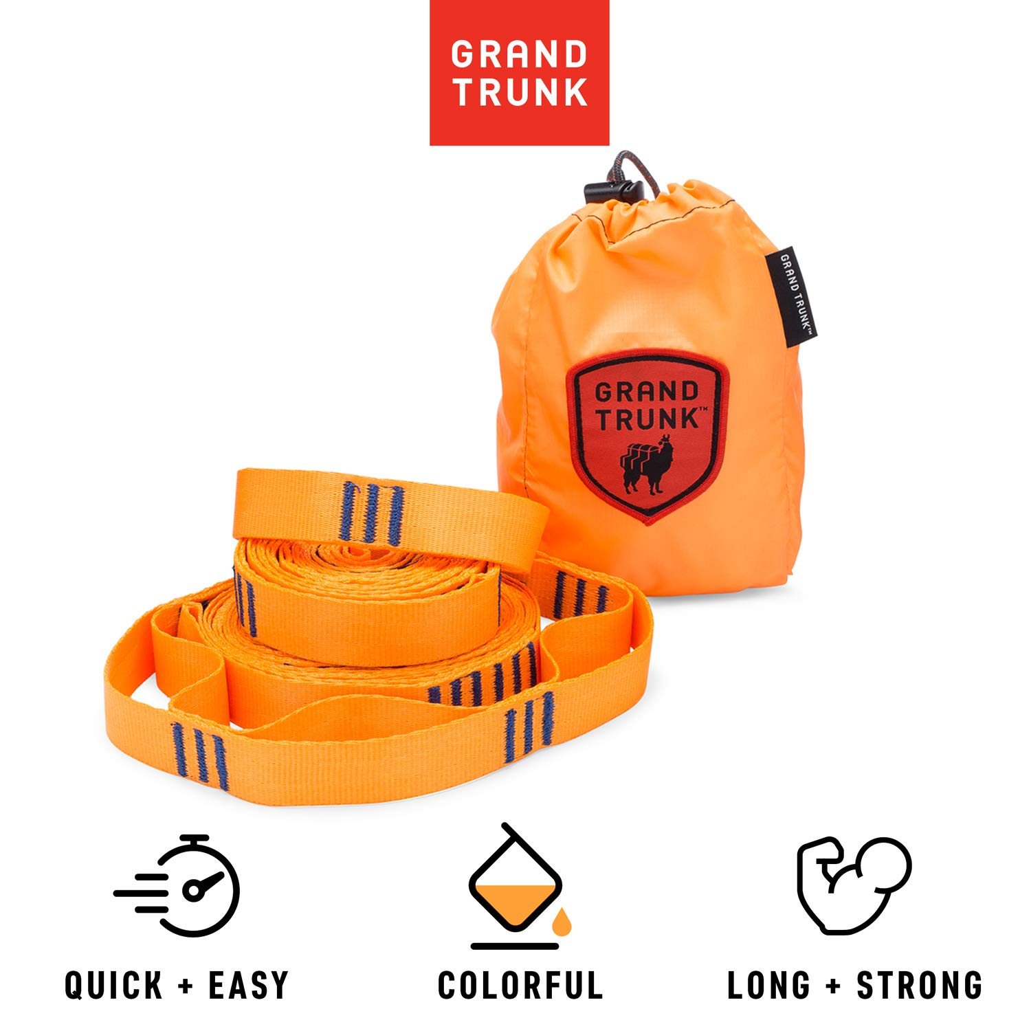 Grand Trunk Tree Trunk Straps - Hammock Suspension System with Colorful Adjustable Hammock Straps