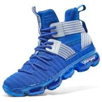 ASHION Kids Basketball Culture Shoes Boys Air-Cushion Comfortable Girls Basketball Shoes Breathable Casual Fashion Kids Shoes Non-Slip Boys Shoes Durable High Tops for Boys