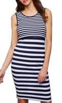 YUNAR Ladies Elastic A-Line Nursing Breastfeeding Dress