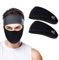 Ewedoos Headbands for Men and Women, Sweatbands & Workout Headbands for Running, Cycling, Yoga, Basketball - Bandanas for Men and Women Sweat Bands Headbands