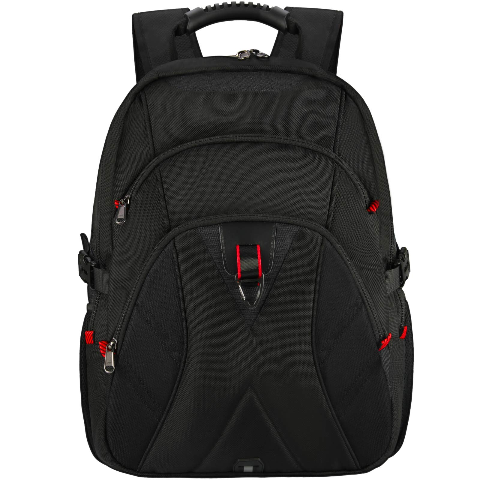 Laptop Backpack 17 Inch Extra Large Travel Backpack for Men Waterproof School College Backpack with USB Charging Port Business Computer Gaming Backpack for Women Men Black