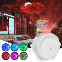 Star Projector, Lacoco Ocean Wave Moon and Star Night Light Galaxy Projector,Starry Night Light Projector with Voice Control 360 Degree Rotating Night Sky Projector for Bedroom Gift for Kids