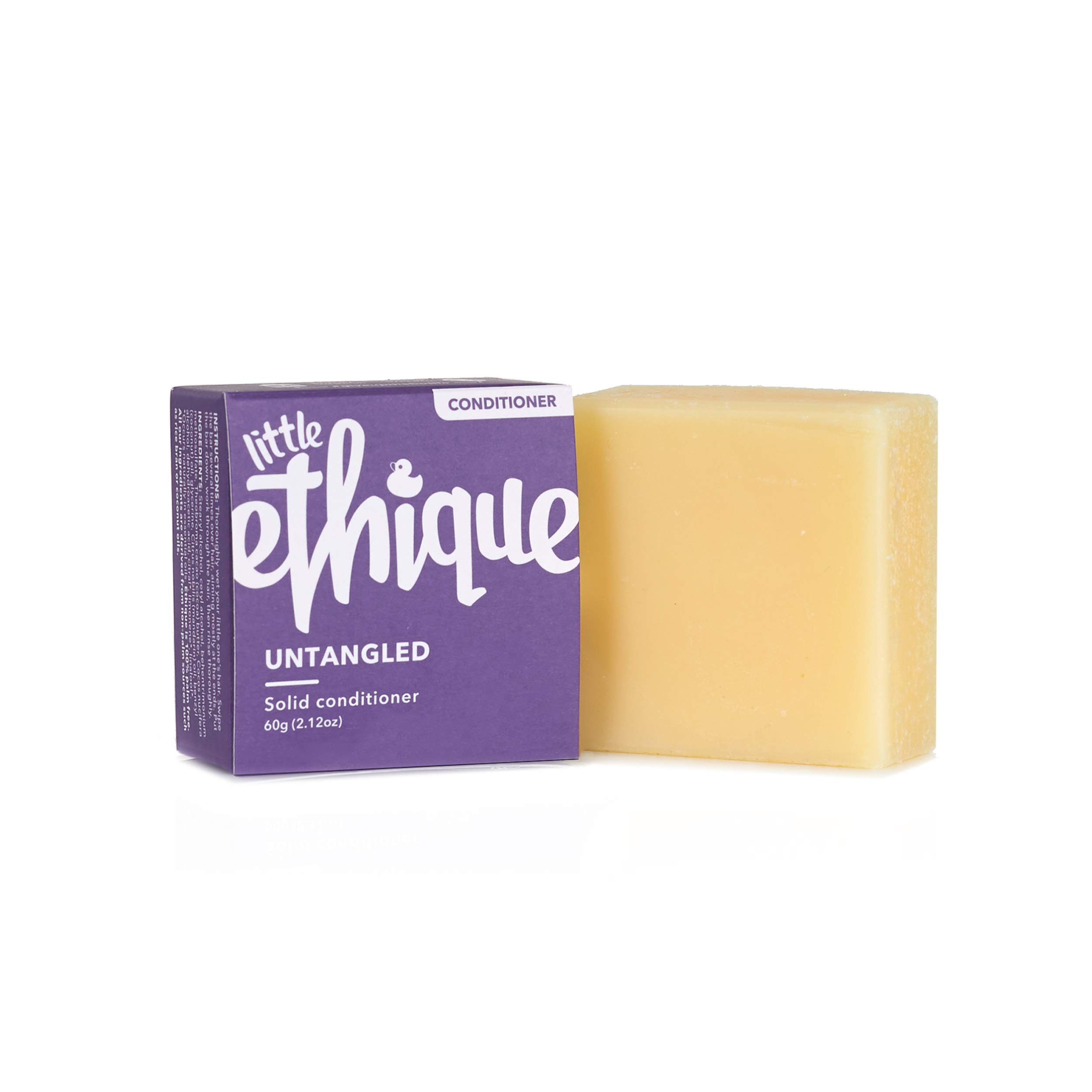 Ethique Eco-Friendly Conditioner Bar for Little Ones, Untangled - Sustainable Baby & Kids Detangling Conditioner, Plastic Free, Soap Free, Vegan, Plant Based, 100% Compostable and Zero Waste, 2.12oz