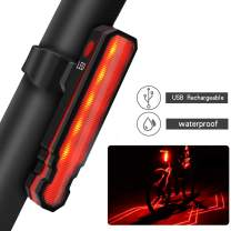 lanji USB Rechargeable Waterproof Bike Bicycle Red LED Laser Tail Light, Turn Signal Laser Warning Light and Cycling Safety Light for Night Riding