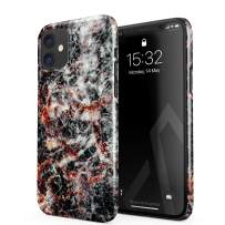 BURGA Phone Case Compatible with iPhone 11 - Volcano Island Lava Fire Black Marble Cute Case for Girls Thin Design Durable Hard Shell Plastic Protective Case
