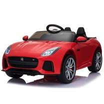 Aosom 12V Jaguar F-Type SVR Kids Battery Powered Ride On Car Double seat Double Door MP3 Music W/ Remote Control- Red